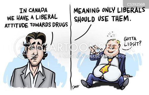 drug smokers cartoon