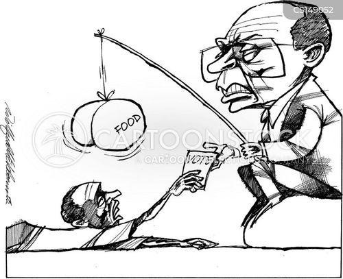 food aid cartoon