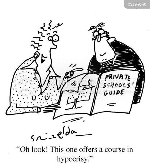 private schools cartoon