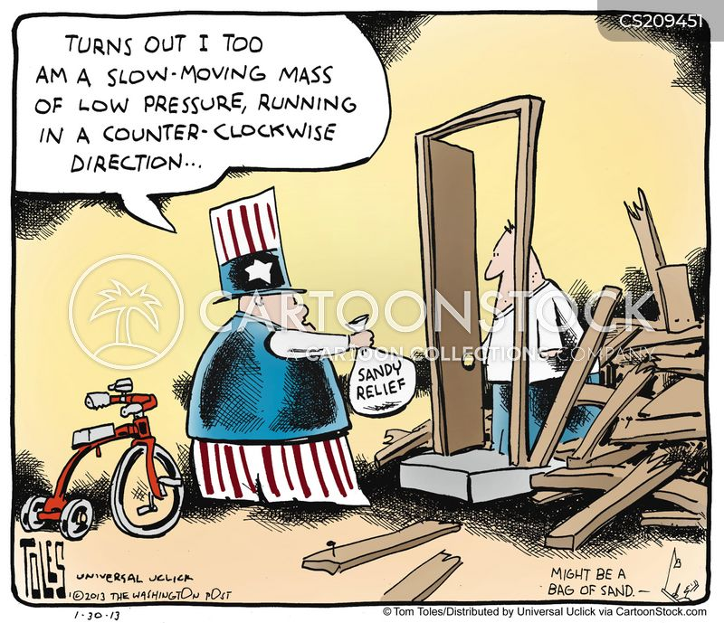 super storm sandy cartoon