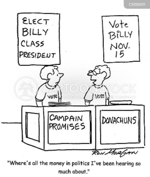 school election cartoon