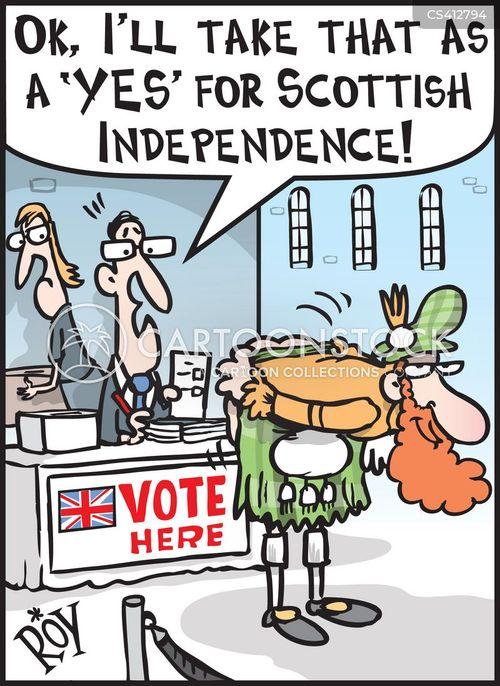 scottish independence referendum cartoon