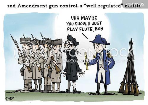 gun restriction cartoon