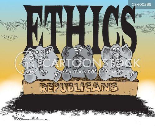 republican policy cartoon