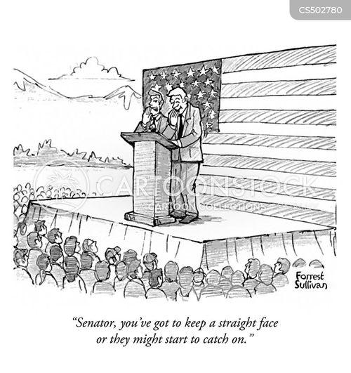 campaign rallies cartoon