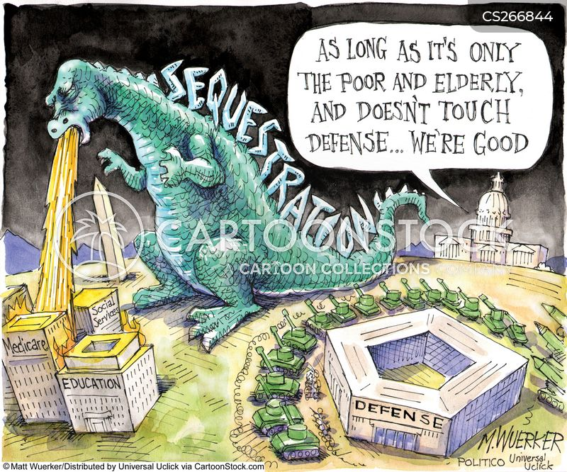 sequester cuts cartoon