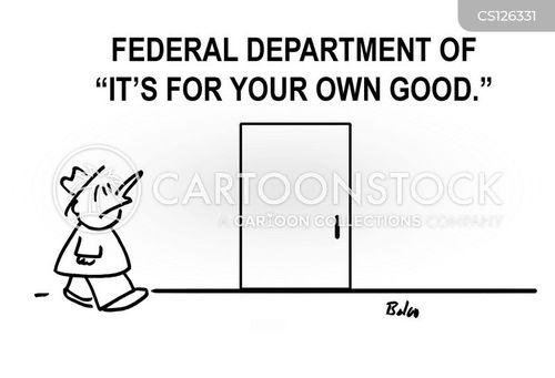 federal building cartoon