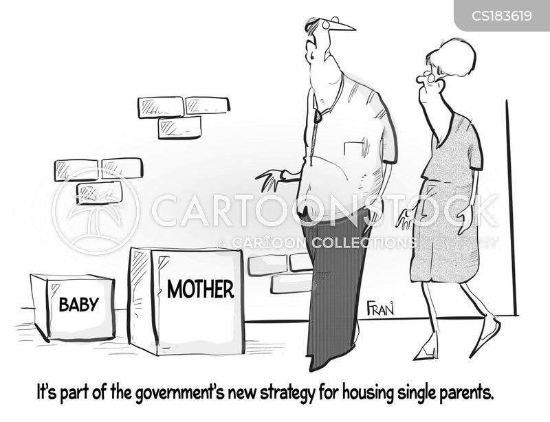 Image result for tory party cartoons unmarried mothers