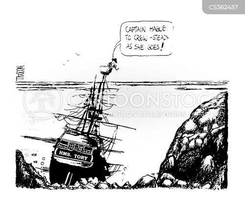 ships captain cartoon