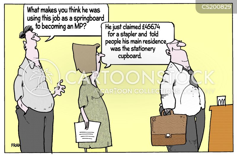 expenses claims cartoon
