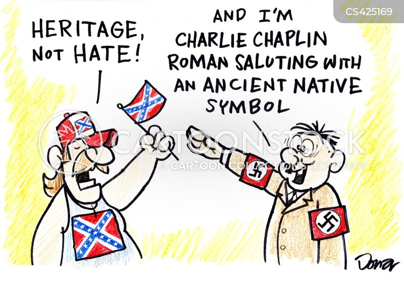 confederate memorials cartoon