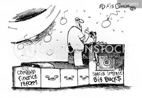 corporate interest cartoon