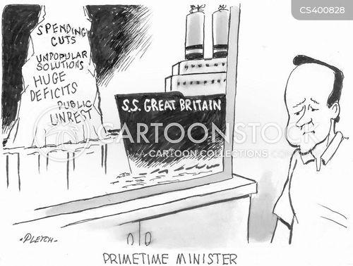 police cuts cartoon