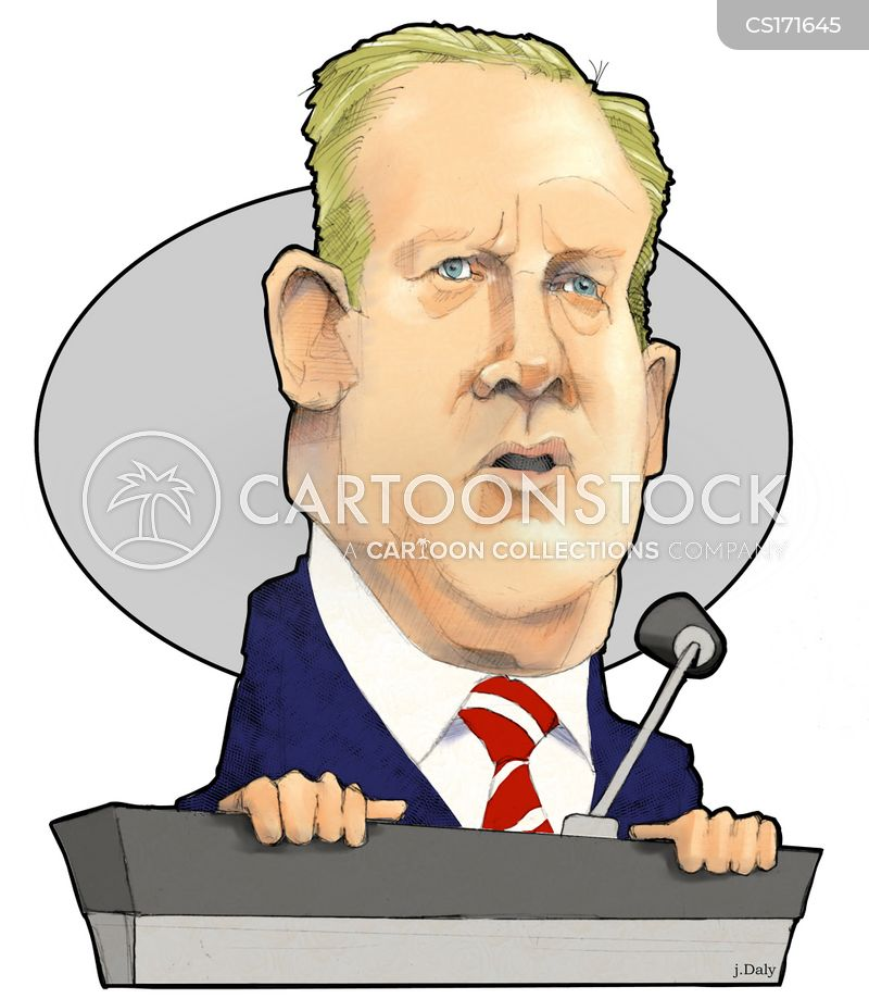sean spicer cartoon