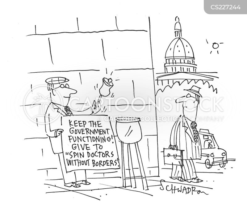 government spin cartoon
