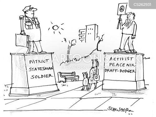peace activist cartoon