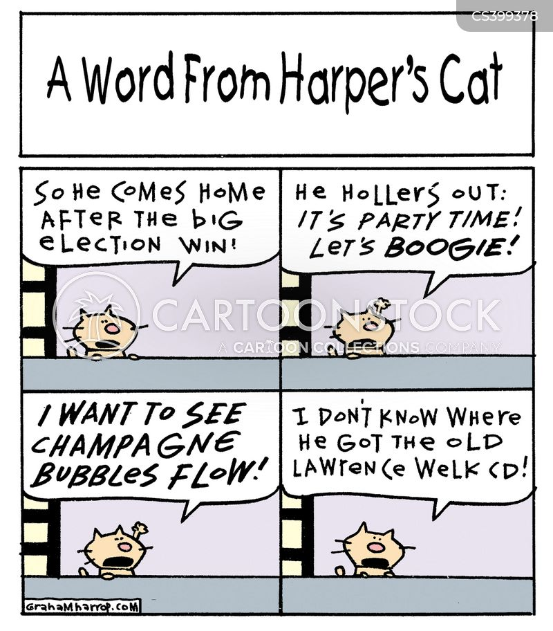 stephen harpers cat cartoon