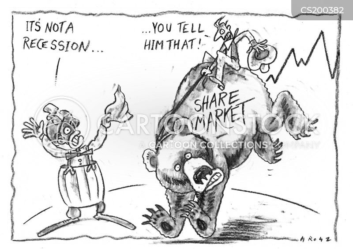 double dip recession cartoon