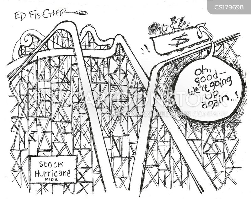 roller coaster cartoon