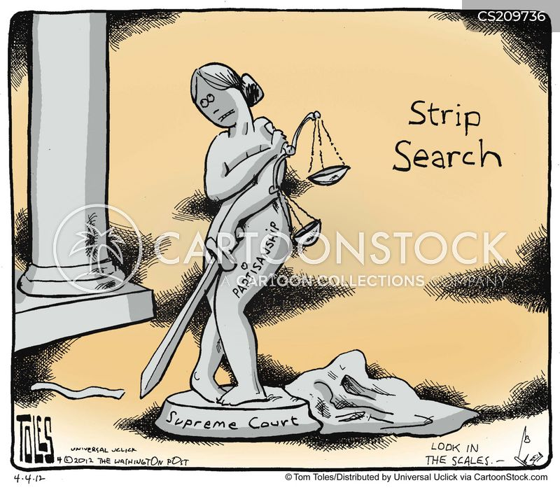 Courts strip search
