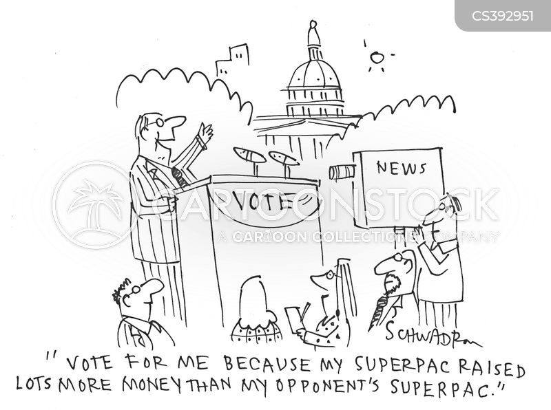 campaign funding cartoon