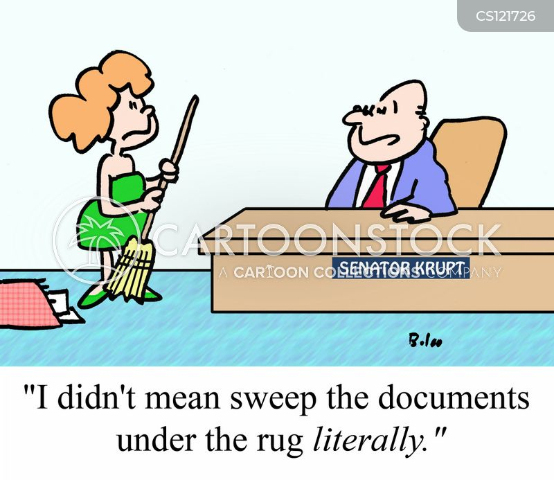 Sweep Under The Rug Cartoons And Comics Funny Pictures