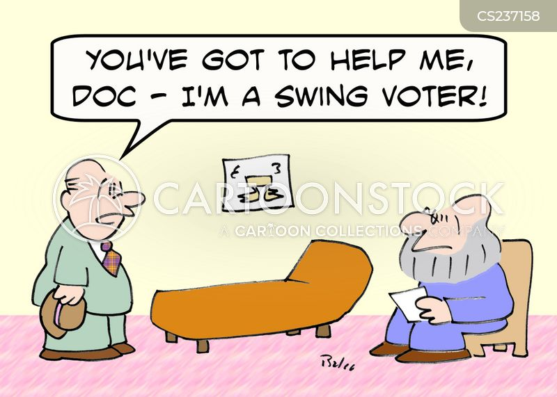 swing voter cartoon