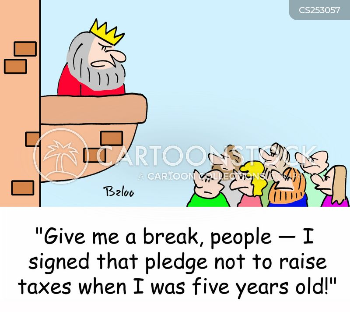 raise taxes cartoon