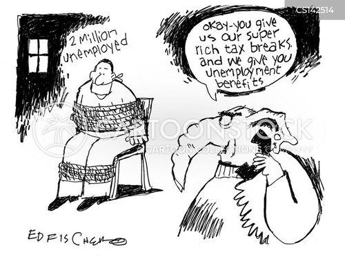 unemployment benefit cartoon