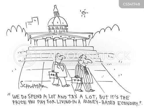 federal taxes cartoon