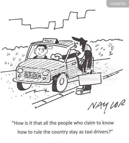 taxi cars cartoon
