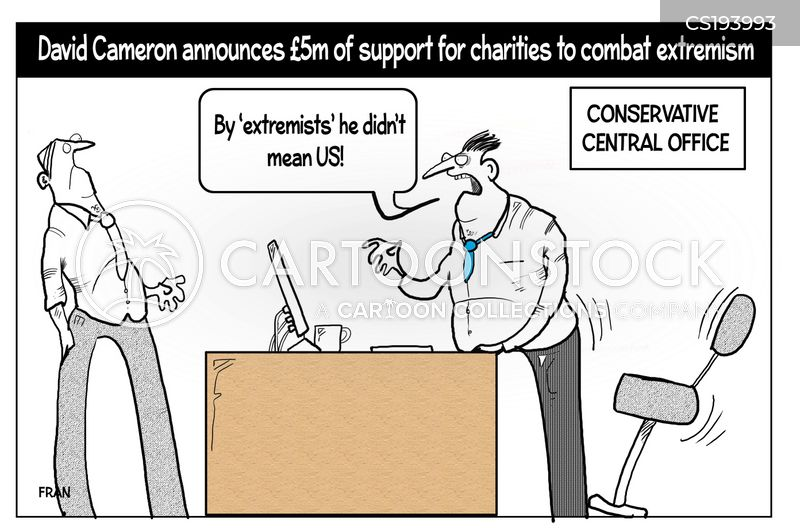 extremism cartoon