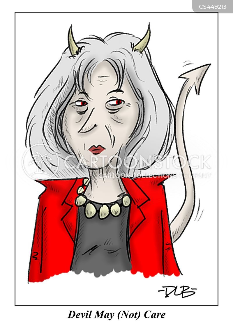 devil may care cartoon