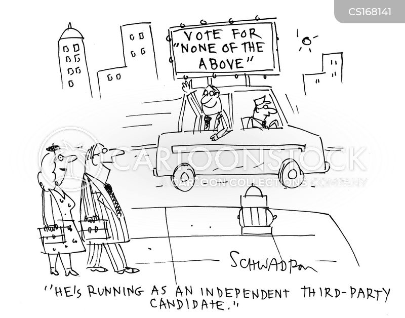 independent ticket cartoon