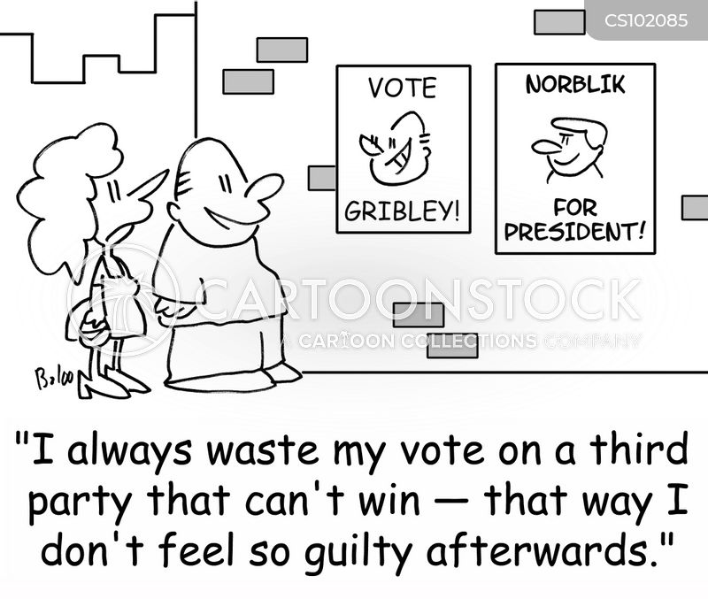 wasted vote cartoon