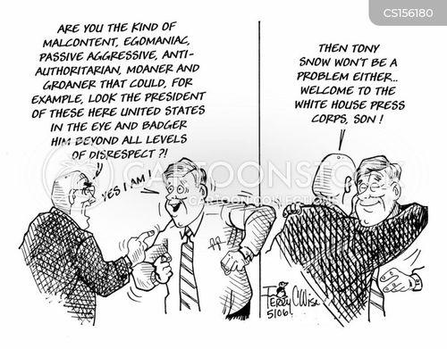 white house press corps cartoon