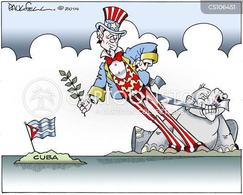 economic embargo cartoon