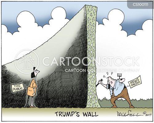 border wall cartoon