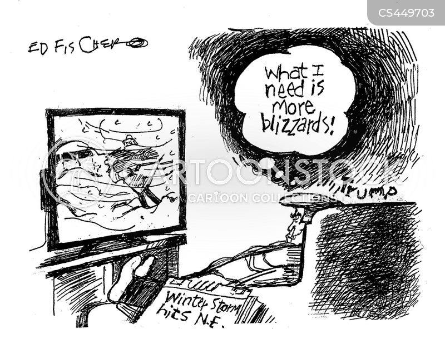 winter storms cartoon