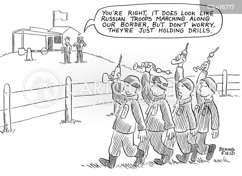 military exercises cartoon