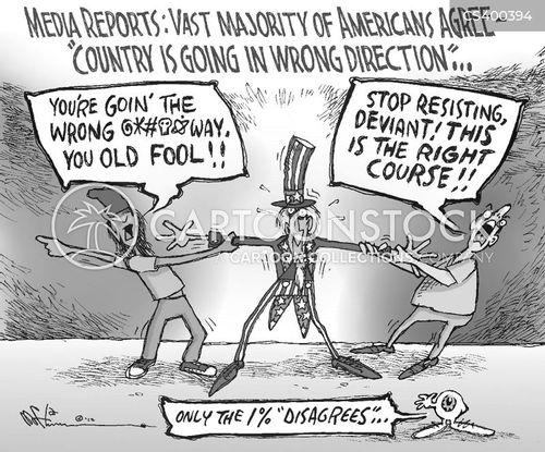 political divides cartoon