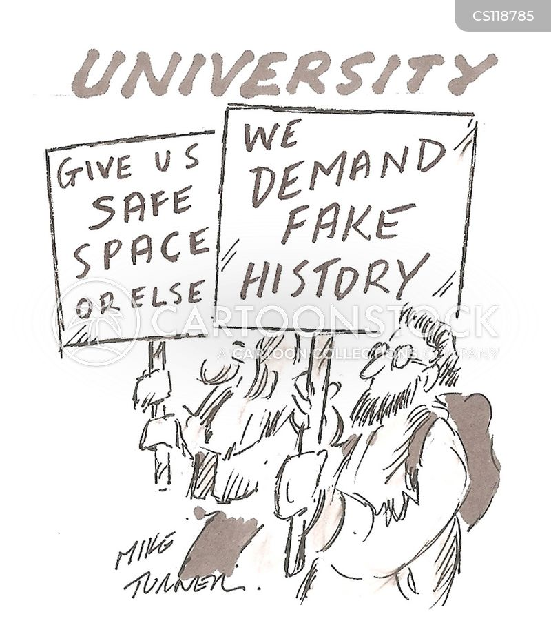 university campus cartoon