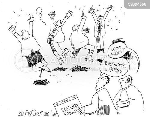 votes tallied cartoon