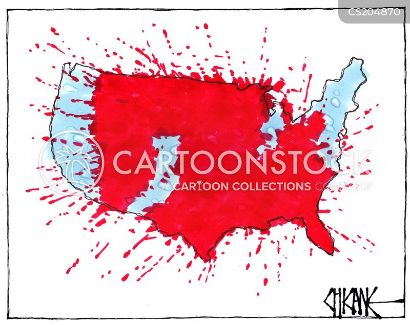 Trump Won States Map.Trump Win Cartoons And Comics Funny Pictures From Cartoonstock