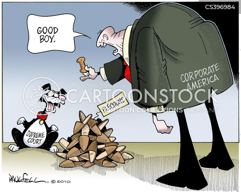 corporate money cartoon