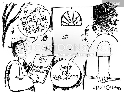 politically polarized cartoon