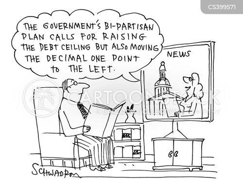 debt ceiling negotiation cartoon