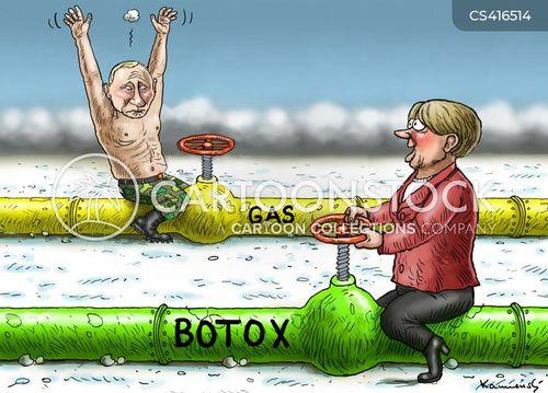 russian gas cartoon