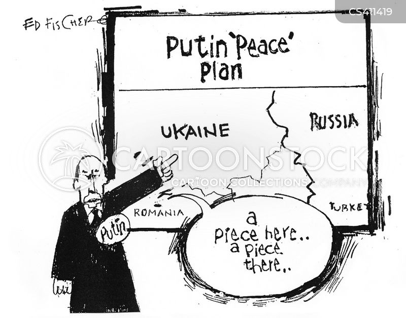 peace plan cartoon