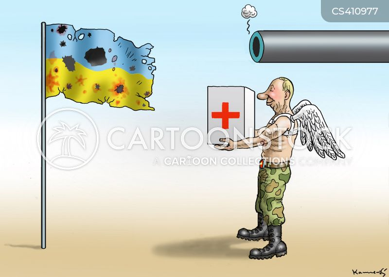aid convoys cartoon